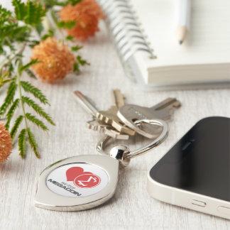 Megacoin Swirl Metal Keychain Silver-Colored Swirl Key Ring