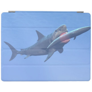 Megalodon eating a whale iPad cover