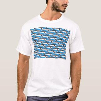 Megalodon Pattern in Blue T-Shirt