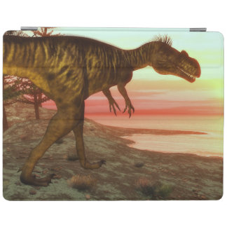 Megalosaurus dinosaur walking toward the ocean iPad cover