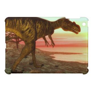 Megalosaurus dinosaur walking toward the ocean iPad mini cases