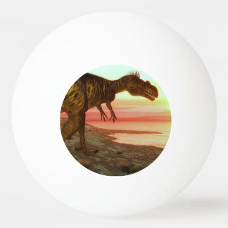 Megalosaurus dinosaur walking toward the ocean ping pong ball