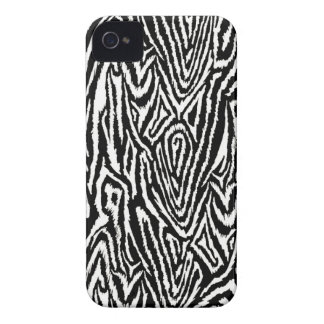 Megan Adams Zebra drawing print- black iPhone 4 Case