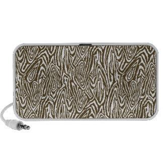 Megan Adams zebra print- brown Travelling Speaker