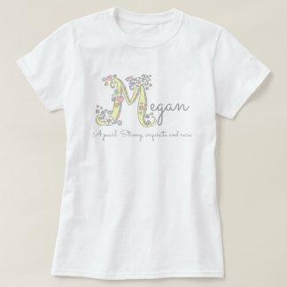 Megan girls M name meaning custom tee