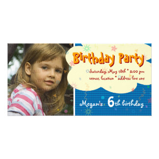 Megan's Birthday Party Photo Invitation Photo Cards