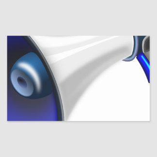 megaphone-1578-trjmp rectangular sticker