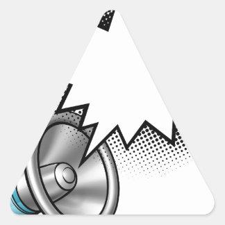Megaphone Comic Book Speech Bubble Triangle Sticker