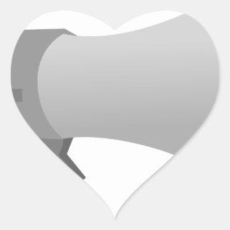 Megaphone Heart Sticker