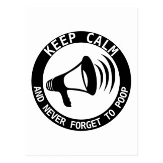 Megaphone: Keep Calm And Never Forget Post Cards
