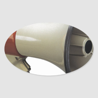 megaphone oval sticker