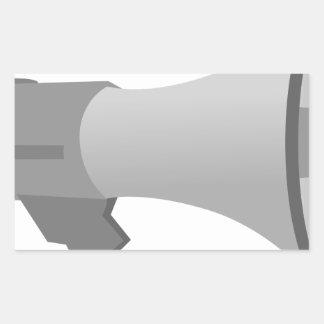 Megaphone Rectangular Sticker
