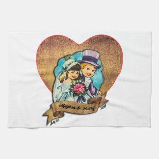 Meghan Markle & Prince Harry tee towel