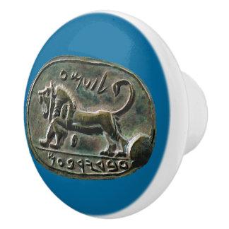 Megiddo Seal Ceramic Knob