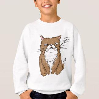 Meh Funny Grumpy Cat Drawing Sweatshirt