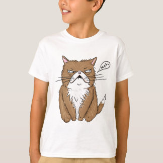 Meh Funny Grumpy Cat Drawing T-Shirt