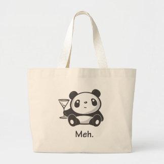 Meh Panda Large Tote Bag