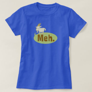 Meh (said the goat) Funny Wordplay Cartoon T-Shirt