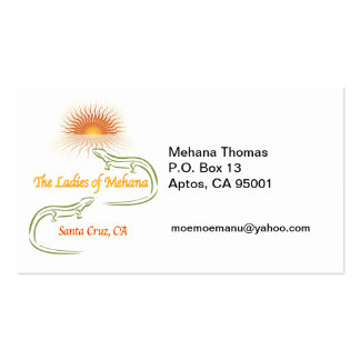 MEHANA Thomas P.O. Box 13Aptos,... Business Card Templates