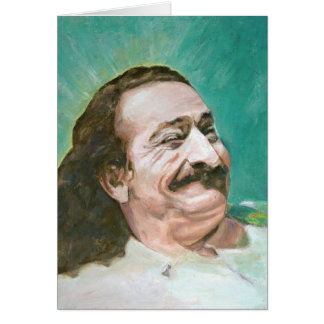 MEHER BABA, JOYOUS--CARD (blank message) Card