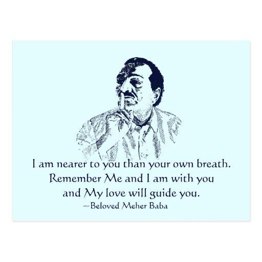 Meher Baba Remember Me Postcard