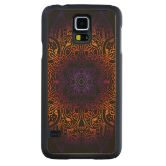 Mehndi Burst on Genuine Hardwood Maple Carved Maple Galaxy S5 Case