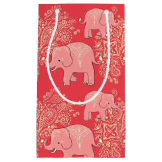 mehndi elephants gift bag