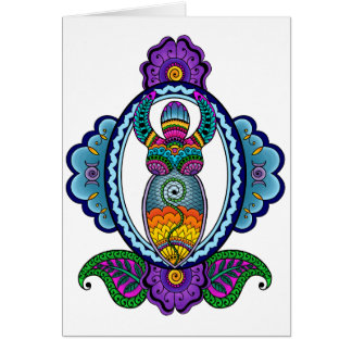 Mehndi Goddess Card- Blank Inside Card