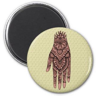 Mehndi Hand Tattoo Art Design Magnet