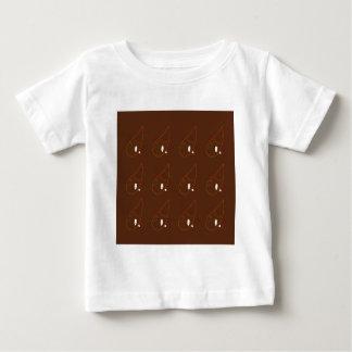 Mehndi henna Brown Ornaments. Luxury edition Baby T-Shirt