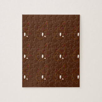 Mehndi henna Brown Ornaments. Luxury edition Jigsaw Puzzle