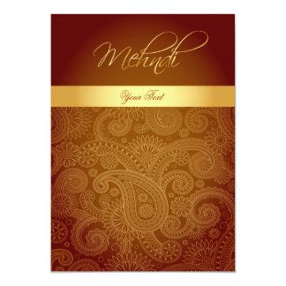 Mehndi / Henna Invitation Card