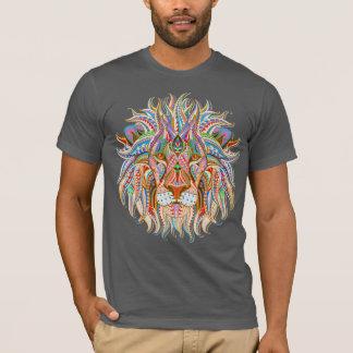 mehndi henna lion colorful psychedelic tshirt