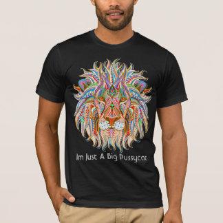 mehndi henna lion colorful psychedelic tshirt 3