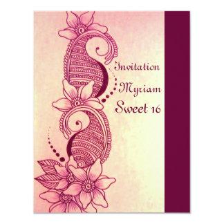 mehndi henna pink card