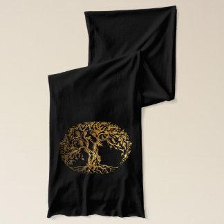 Mehndi Tree of Life (Gold) 2 Scarf