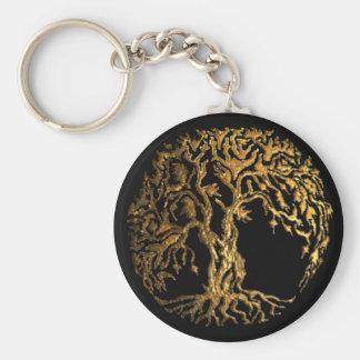 Mehndi Tree of Life (Gold) Key Ring