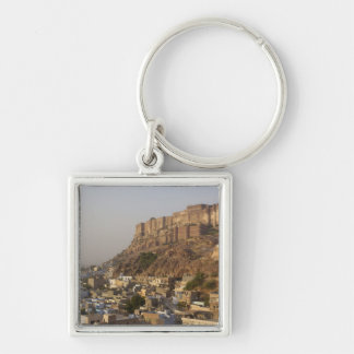 Mehrangarh Fort of Jodhpur. Rajasthan, INDIA. Silver-Colored Square Key Ring