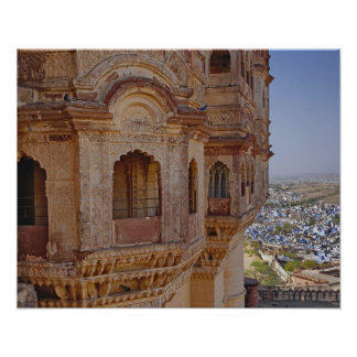 Mehrangarh Fort towering above Jodhpur, The Blue Poster