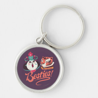 Mei Mei and Tigress - Besties Silver-Colored Round Key Ring