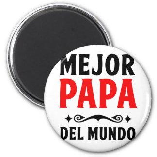 mejor papa delmonico 6 cm round magnet