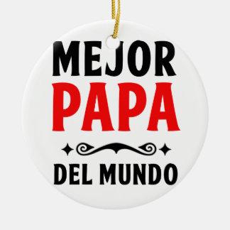 mejor papa delmonico ceramic ornament