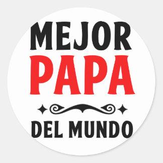 mejor papa delmonico classic round sticker