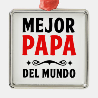 mejor papa delmonico metal ornament