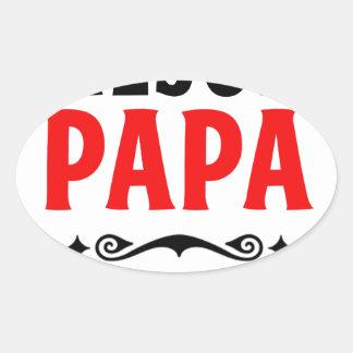 mejor papa delmonico oval sticker