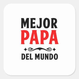 mejor papa delmonico square sticker
