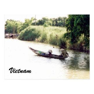 mekong boat postcard