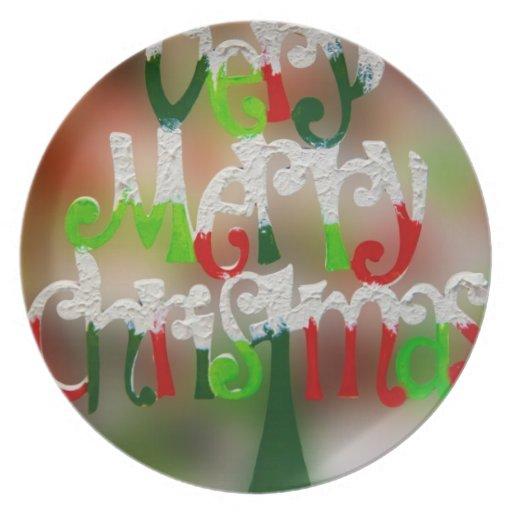 Melamine Plate - Christmas Decorations