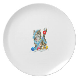 MELAMINE PLATE DECORATED KITTY