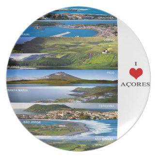 Melamine Plate - I Love Açores